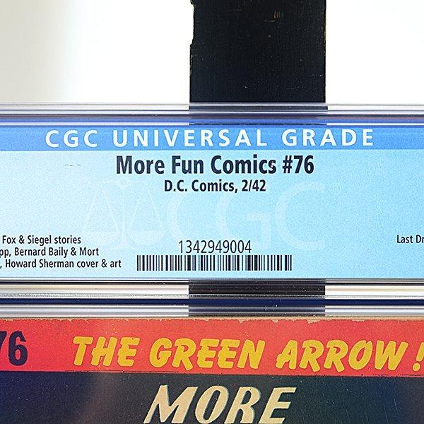 More Fun Comics #76 (DC, 1942) CGC Grade 5.5 FINE-, - 2