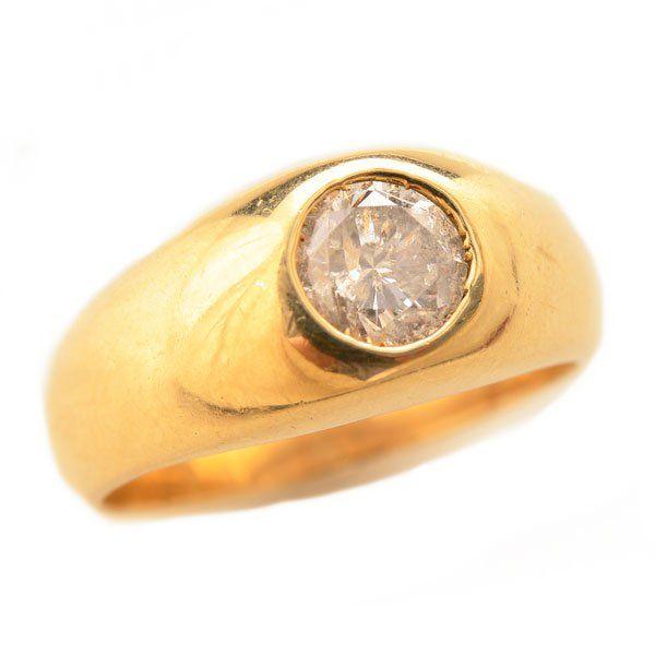 Men's Diamond, 14k Yellow Gold Ring.