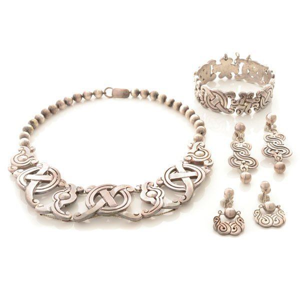 William Spratling Sterling Silver Jewelry Suite.