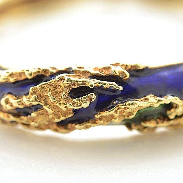 Tiffany & Co. Enamel, 18k Yellow Gold Bracelet. - 3