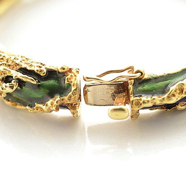 Tiffany & Co. Enamel, 18k Yellow Gold Bracelet. - 4