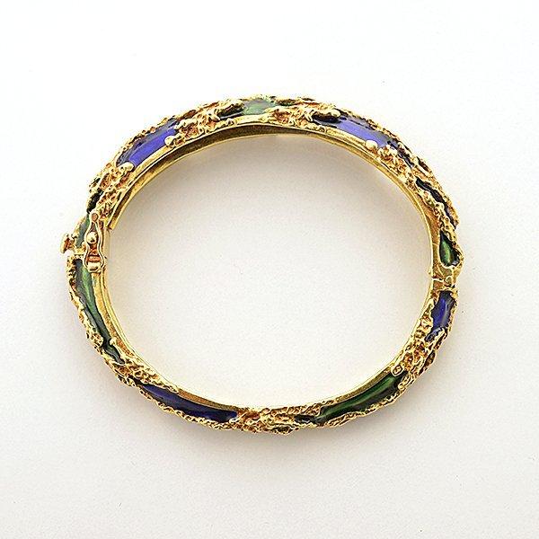 Tiffany & Co. Enamel, 18k Yellow Gold Bracelet. - 5