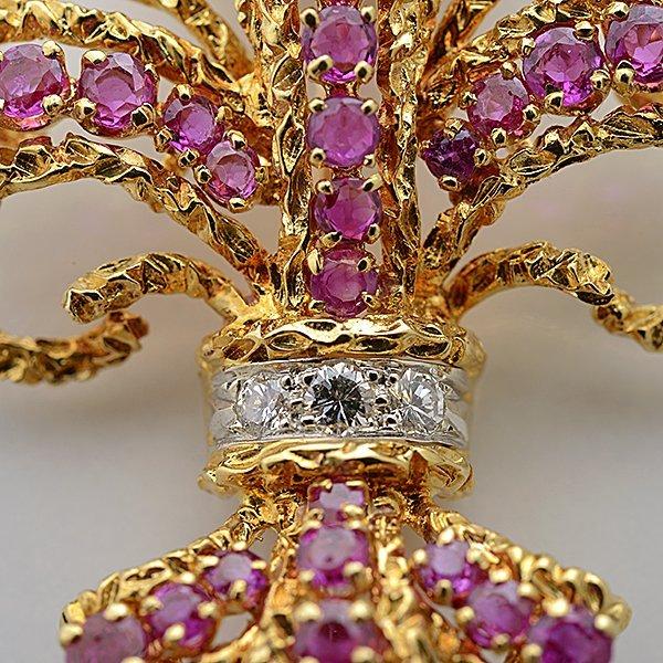 Cartier Pink Sapphire, Diamond, 18k Yellow Gold - 2