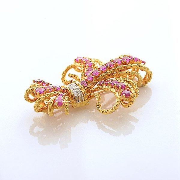 Cartier Pink Sapphire, Diamond, 18k Yellow Gold - 3