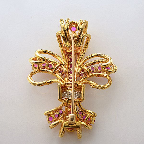 Cartier Pink Sapphire, Diamond, 18k Yellow Gold - 4