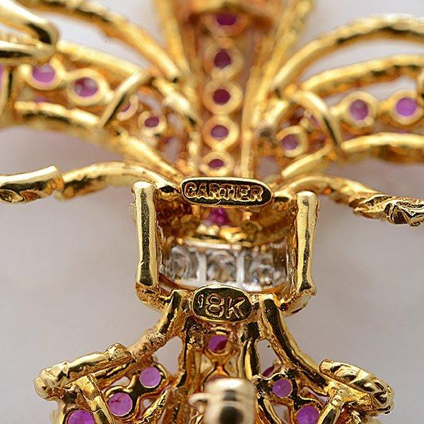 Cartier Pink Sapphire, Diamond, 18k Yellow Gold - 5