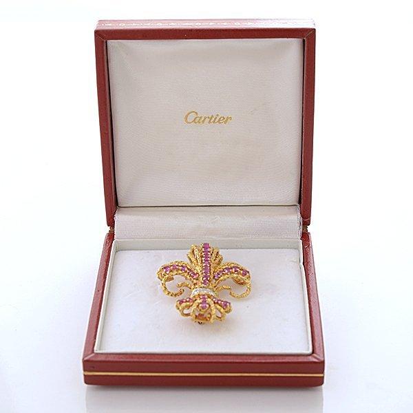 Cartier Pink Sapphire, Diamond, 18k Yellow Gold - 6