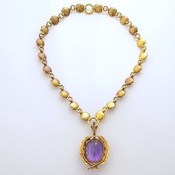 Victorian Amethyst, Seed Pearl, 15k Yellow Gold - 6