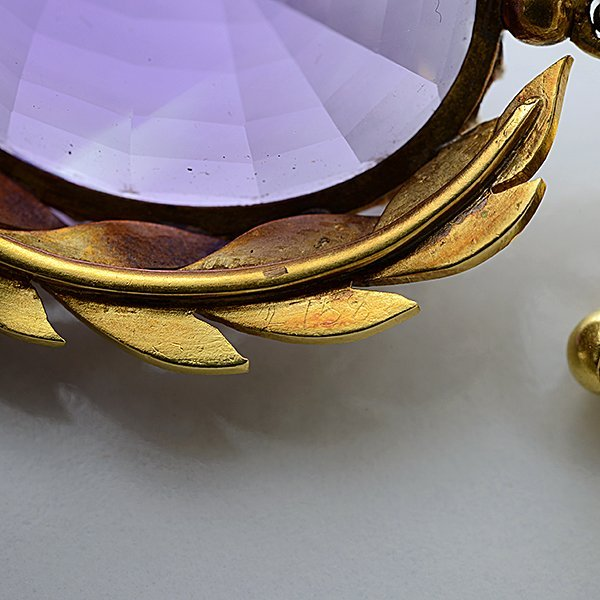 Victorian Amethyst, Seed Pearl, 15k Yellow Gold - 7