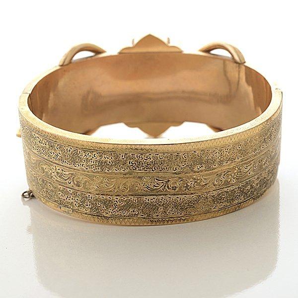 Victorian Pearl, Enamel, 14k Yellow Gold Bracelet. - 5