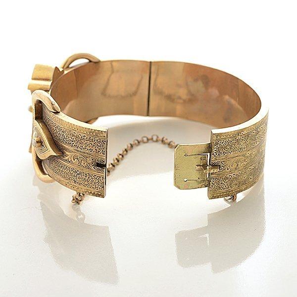 Victorian Pearl, Enamel, 14k Yellow Gold Bracelet. - 6