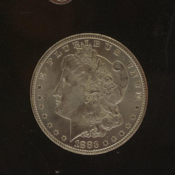 Lot of 3 US MOrgan Dollars 1882-CC PCGS MS63DMPL; 1833 - 2