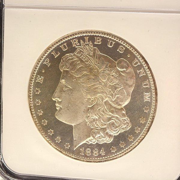 Lot of 3 US MOrgan Dollars 1882-CC PCGS MS63DMPL; 1833 - 4