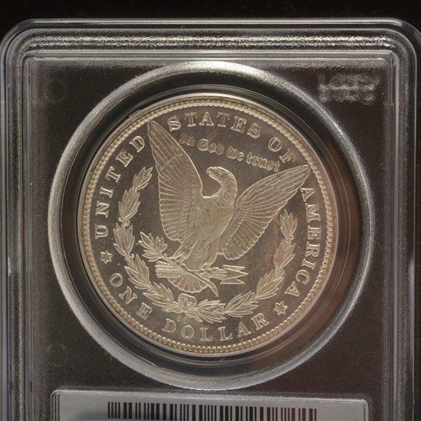 Lot of 3 US MOrgan Dollars 1882-CC PCGS MS63DMPL; 1833 - 7