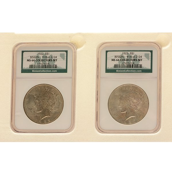 US Silver Dollars Including Morgan 1883(O) PCGS MS64; - 3