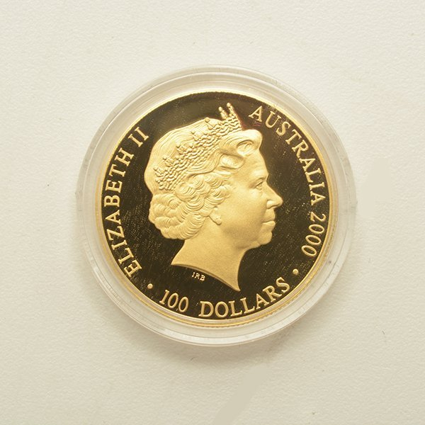 Australia 2000 Olympic $100.00 Gold Coin Proof - 2