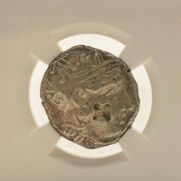 Ancient Silver Coin Attica Athens c 393-294 BC NGC AU - 2