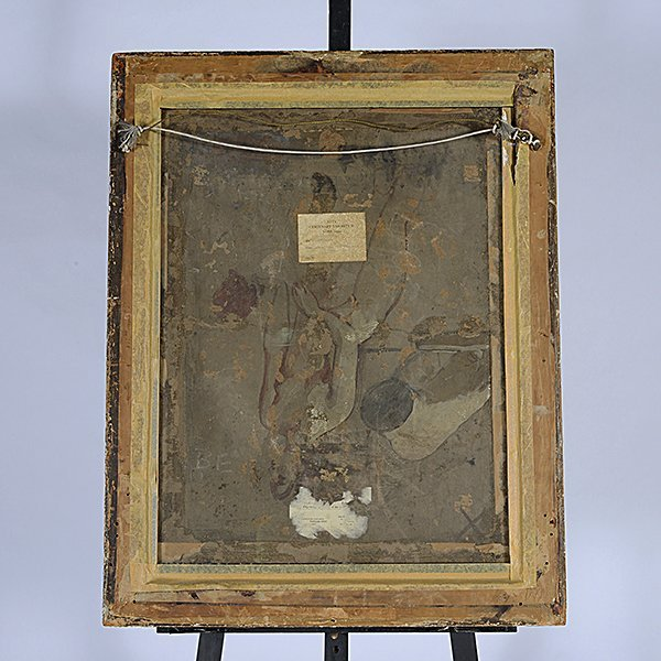 """Attributed to William Etty """"Sketch for Andromeda"""" oil - 5"""