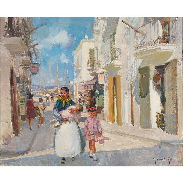 "Ignacio Gil y Sala ""Ibiza"" oil on canvas"