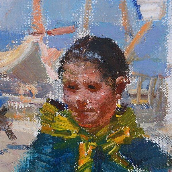 "Ignacio Gil y Sala ""Ibiza"" oil on canvas - 3"