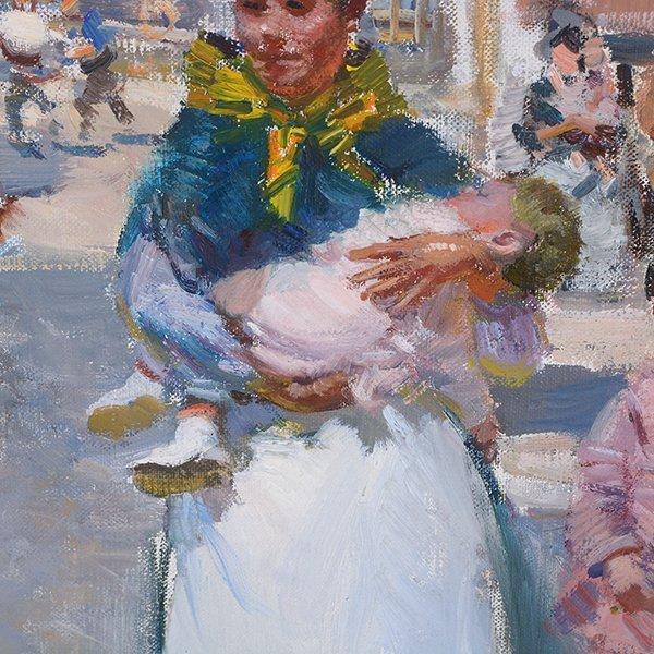 "Ignacio Gil y Sala ""Ibiza"" oil on canvas - 4"