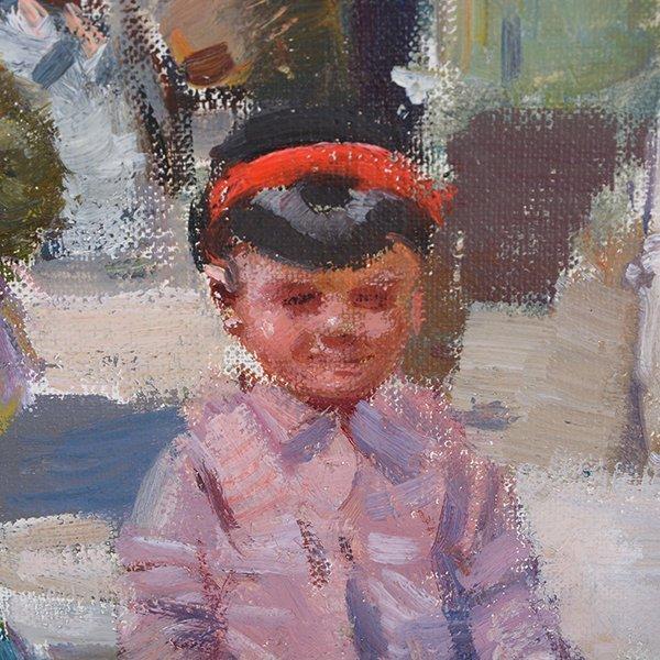 "Ignacio Gil y Sala ""Ibiza"" oil on canvas - 5"