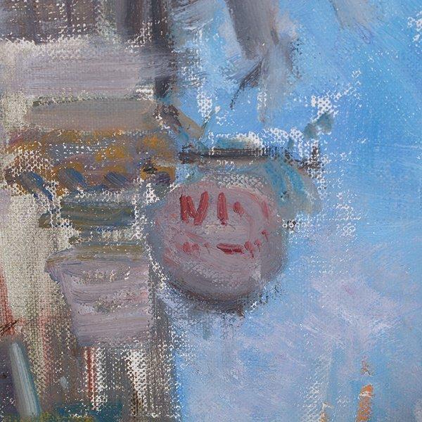 "Ignacio Gil y Sala ""Ibiza"" oil on canvas - 8"