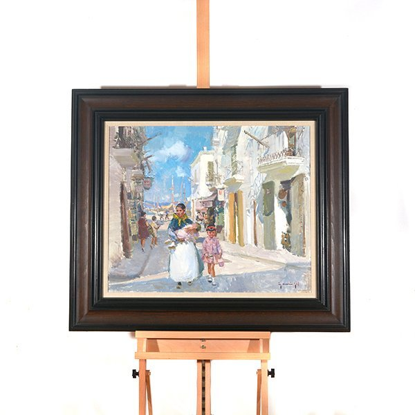 "Ignacio Gil y Sala ""Ibiza"" oil on canvas - 9"