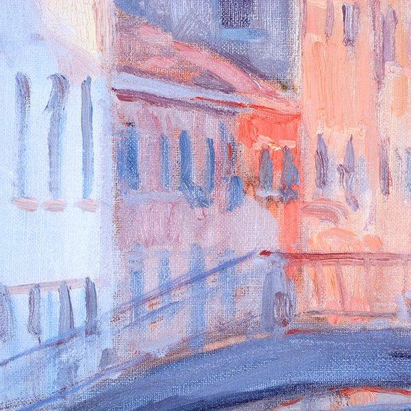 """Joe Abbrescia """"Serenita"""" oil on canvas - 7"""