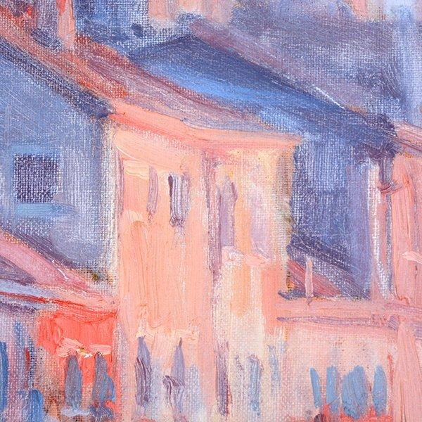 """Joe Abbrescia """"Serenita"""" oil on canvas - 8"""