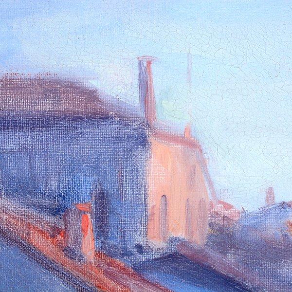 """Joe Abbrescia """"Serenita"""" oil on canvas - 9"""
