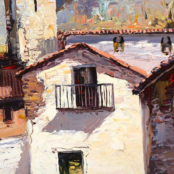 "Jose Vives-Atsara ""Village New Barcelona"" oil on - 3"