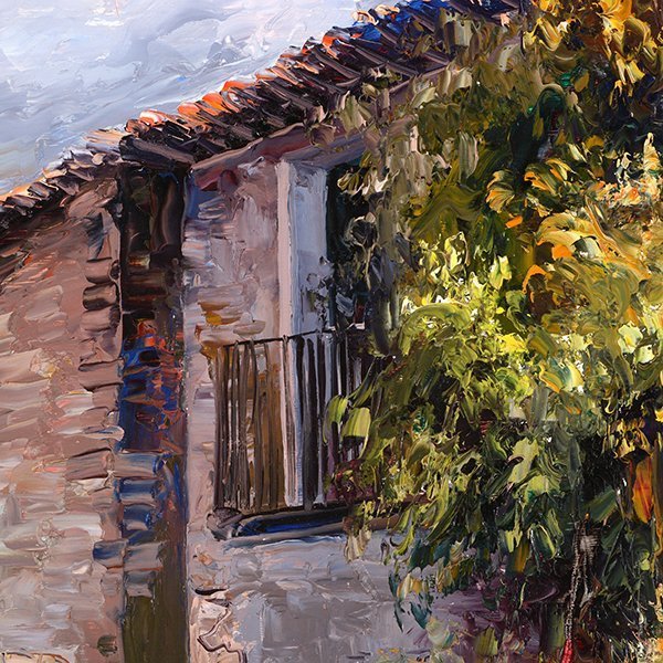 "Jose Vives-Atsara ""Village New Barcelona"" oil on - 7"