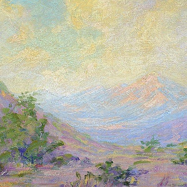 "Granville Redmond ""Mountain Desert Landscape"" oil on - 3"