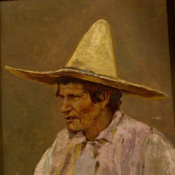 "Edward Borein ""Vaquero"" oil on canvas board - 3"