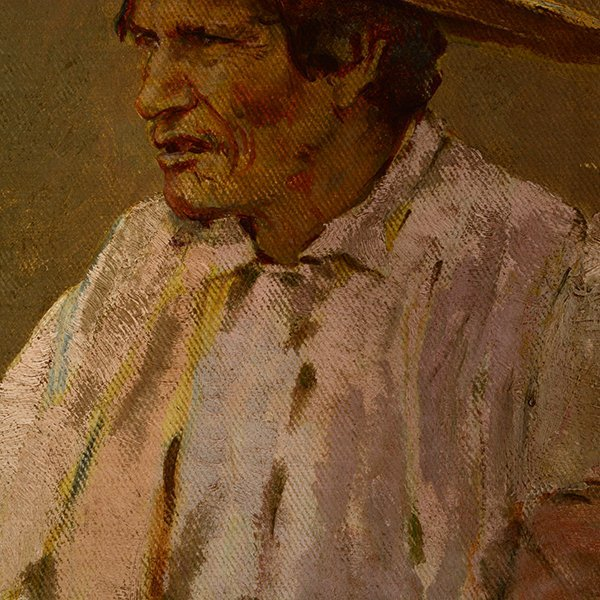 "Edward Borein ""Vaquero"" oil on canvas board - 4"