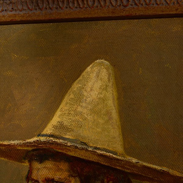 "Edward Borein ""Vaquero"" oil on canvas board - 7"