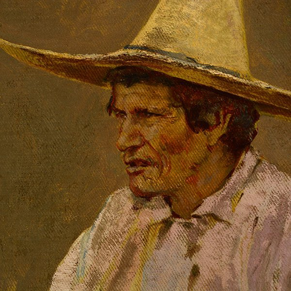 "Edward Borein ""Vaquero"" oil on canvas board - 9"