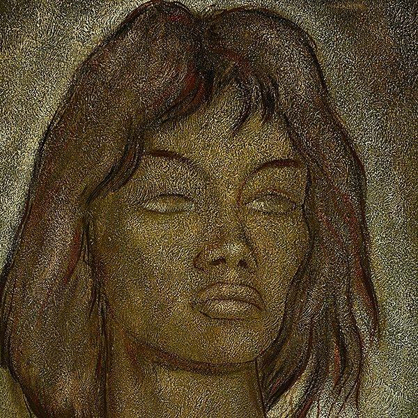 "Angel Botello ""Portrait of a Woman"" oil on masonite - 3"