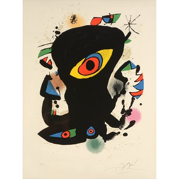 "Joan Miro ""Poster for Inaugural Exhibit of the Maeght"