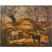 """Arturo Souto """"Caballo en El Campo"""" oil on canvas"""