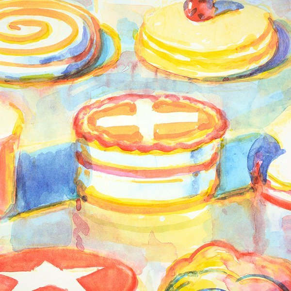 """Wayne Thiebaud """"Colorful Cakes"""" lithograph - 2"""