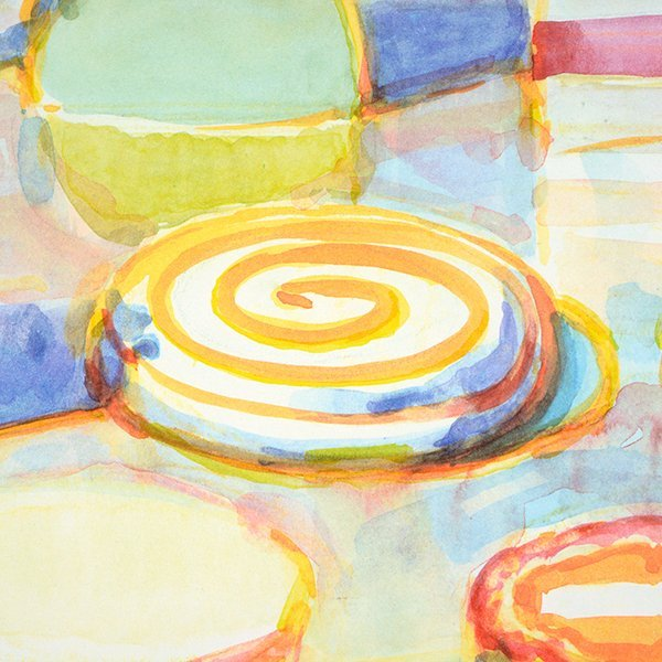"""Wayne Thiebaud """"Colorful Cakes"""" lithograph - 4"""