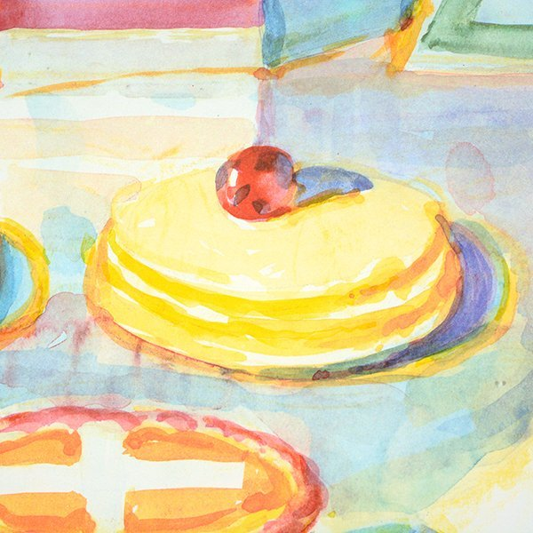 """Wayne Thiebaud """"Colorful Cakes"""" lithograph - 8"""