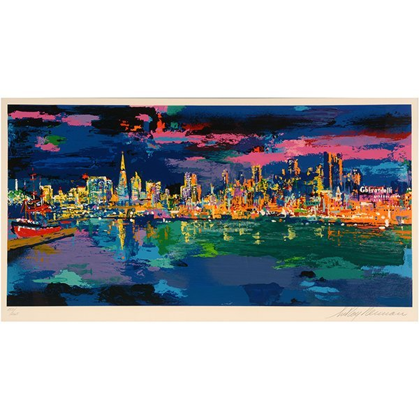 "Leroy Neiman ""City by the Bay"" serigraph"