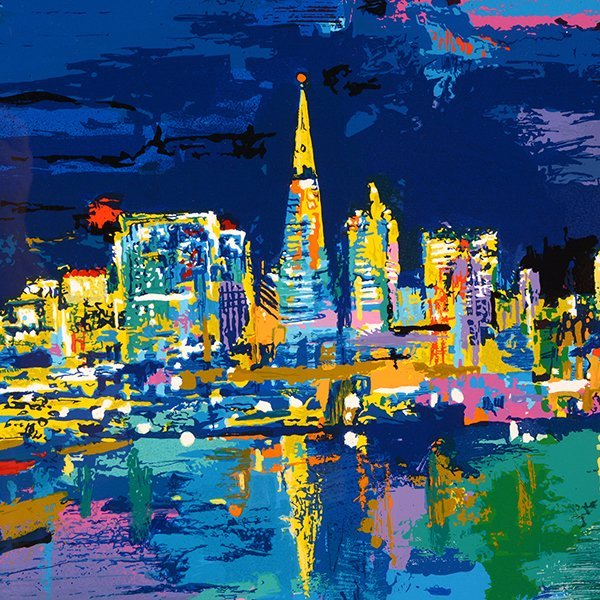 "Leroy Neiman ""City by the Bay"" serigraph - 3"