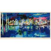 "Leroy Neiman ""San Francisco by Night"" serigraph"