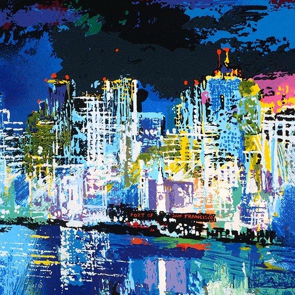 "Leroy Neiman ""San Francisco by Night"" serigraph - 5"