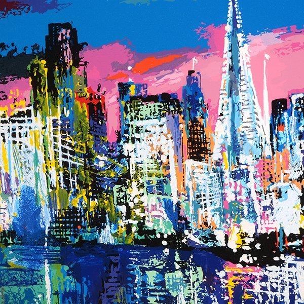 "Leroy Neiman ""San Francisco by Night"" serigraph - 6"