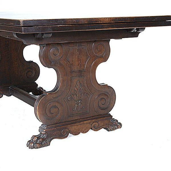 Renaissance Revival Dining Table with Eight Chairs - 3
